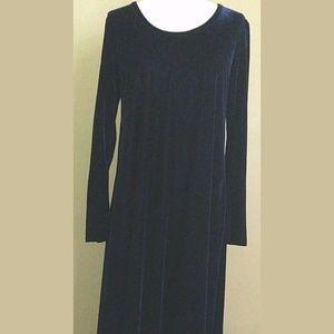 Soft Surroundings Velvet Maxi Dress Medium Blue
